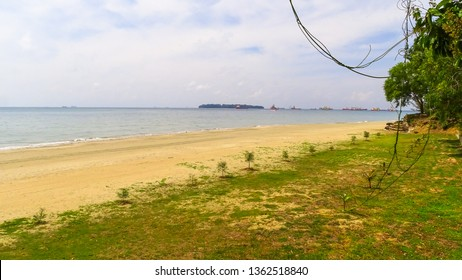 View of the Labuan island with beautiful landscaped park long sandy beach.Labuan is an interesting tourist destination with plenty to keep the island traveller relaxed in equal measure.