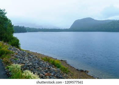 View of Lac Resimond, along the Saguenay Fjord, in Quebec, Canada