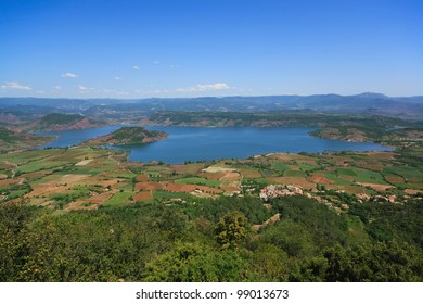 View of Lac Salagou from  Montagne de Liausson, Languedoc-Roussillon, France
