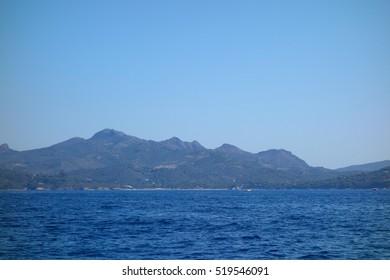 View of Lacona in Elba Island, Italy