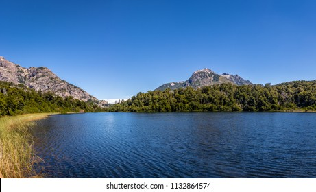 View of Lago Escondido (Hidden Lake) at Circuito Chico - Bariloche, Patagonia, Argentina