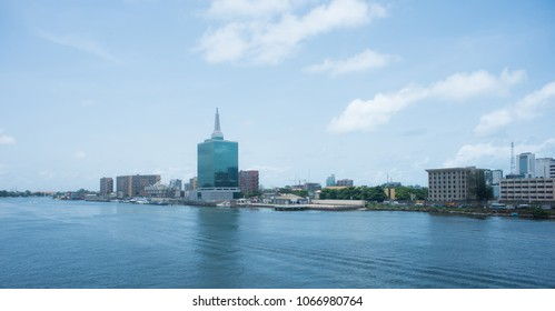 A view of the Lagos Lagoon, Victoria Island in Lagos, Nigeria