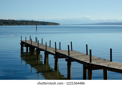 """View of the lake """"Ammersee"""" near Munich in Bavaria"""