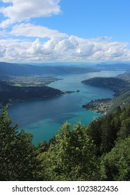 A view of Lake Annecy in the French Alps.