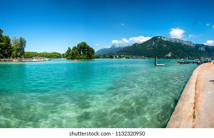 a view of Lake Annecy in the French Alps