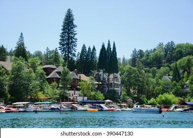 View of Lake arrowhead in California