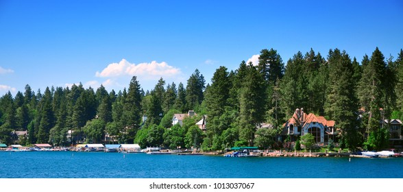 View of Lake Arrowhead California, USA