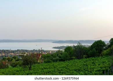 View of the Lake Balaton from Alsoors.