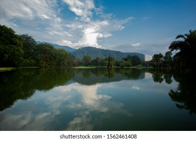 view lake and blue sky