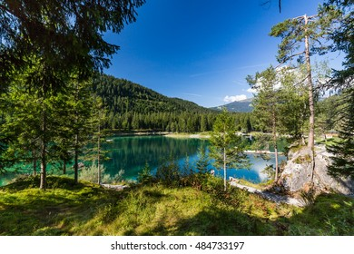 View of the Lake Cauma near Flims in Switzerland