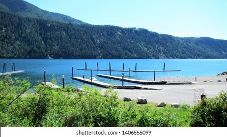 View of Lake Coeur D'Alene area in northern Idaho