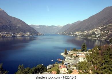 View of Lake of Como, Italy, from Faggeto al Lario