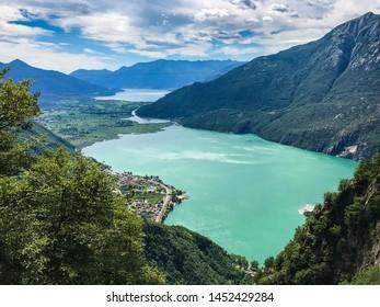 View of Lake Como and Lake Mezzola
