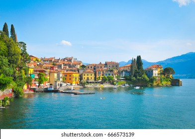 View of Lake Como in the province of Lombardy, Italy