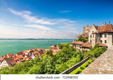 The view of lake Constance to the medieval city Meersburg. Germany