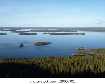 a view to the lake in Finland, national park