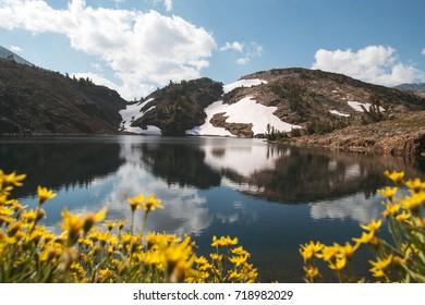 View of Lake Helen in the Eastern Sierras, California.