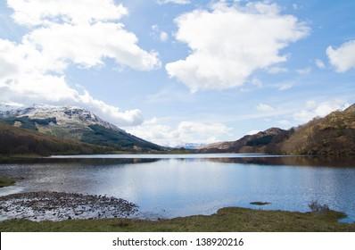 View of a lake at Highland, Scotland