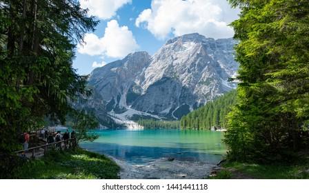 The view of lake in Lago Di Braies