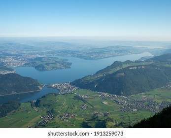View of Lake Lucerne from Stanserhorn, Switzerland