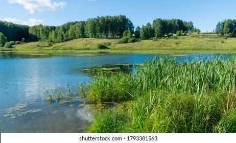 View of the lake in the Nizhny Novgorod region