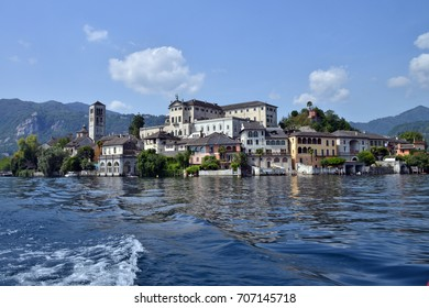 view of Lake Orta, Italy  photographic series of views of Lake Orta, with views of the island of San Giulio