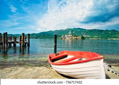 View of Lake Orta, series of photos of Italy: Orta Lake - Orta San Giulio Island