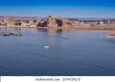View to Lake Powell near City of Page from the Wahweap overlook point, Glen Canyon National Recreation Area