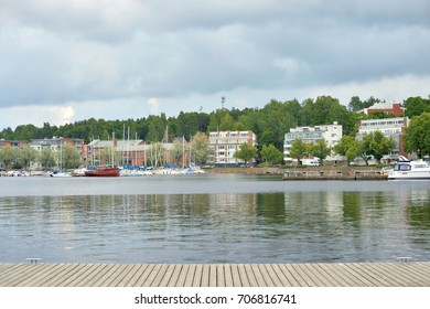 View of Lake Saimaa and the city of Lappeenranta. City and municipality in Finland, in the province of Eastern Finland.