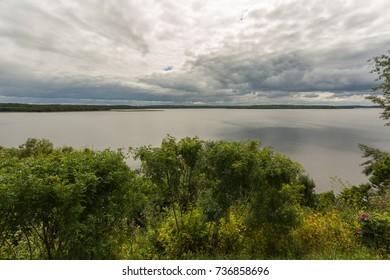 "View of Lake ""Sebezhskoe"" from the Castle Hill. Sebezh, Pskov region, Russia."