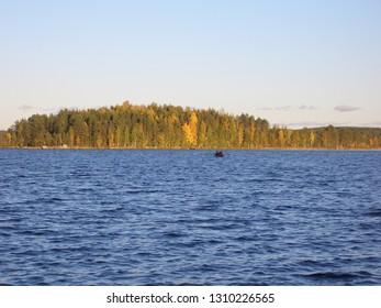 View of Lake Uurajärvi from the shore, Finland