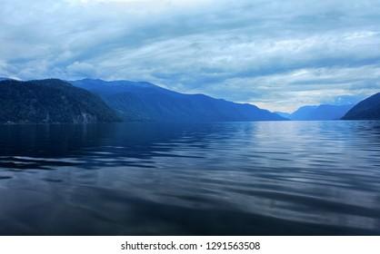 View of Lake Teletskoye. Altai Republic, Russia