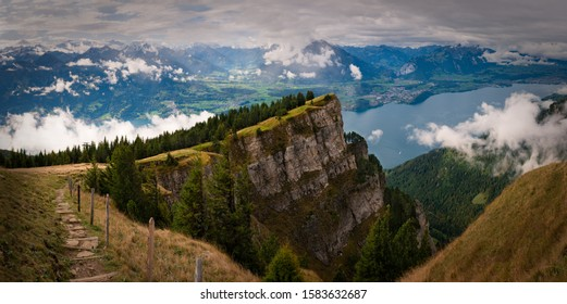 View of Lake Thun (Thunersee) from Niederhorn, Switzerland