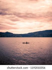 View of Lake Toba from Samosir Island