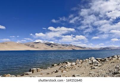 View of lake Tso-Moriri In Leh, Ladakh, India