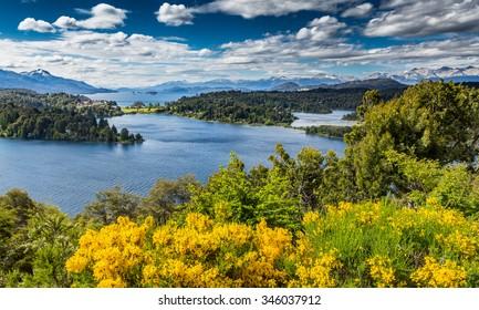 View of Lake Victoria in San Carlos de Bariloche in South America