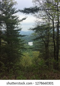 View of lake at Vogel State Park from Appalachian Trail