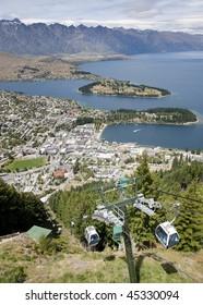 View of Lake Wakatipu, Queenstown, New Zealand
