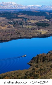 View of Lake Windermere from Gummers How in Lake District National Park Cumbria England
