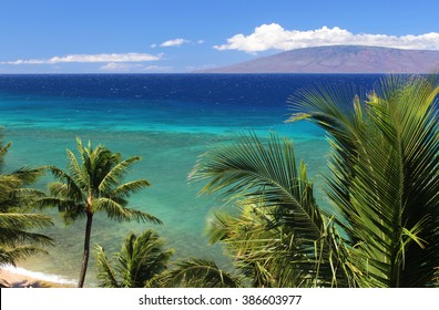 View of Lanai from Maui, Hawaii