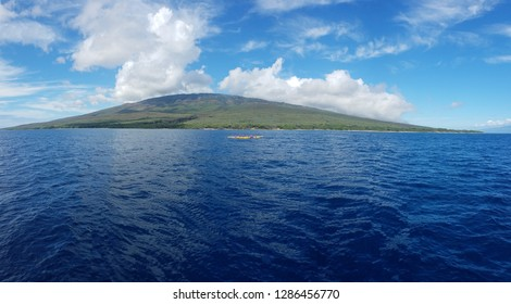 View of Lanai, Maui, Hawaii from the Ocean