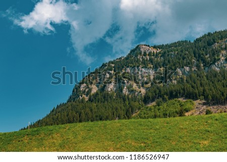 View of the landscape in the Alpine Principality of Liechtenstein