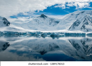 a view to the landscape of antarctica