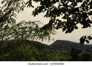 View of the landscape in Avanne, Franche Comté, Alsace