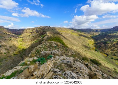 View of landscape in Gamla National Park (Daliyot and Gamla streams), Golan Heights, Northern Israel