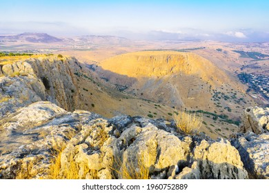 View landscape and Mount Nitay from Mount Arbel National Park. Northern Israel