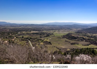 View to the landscape near the small French village Gordes in Provence, near the Luberon.