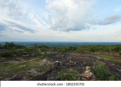 View landscape over the mountain at North east of Thailand
