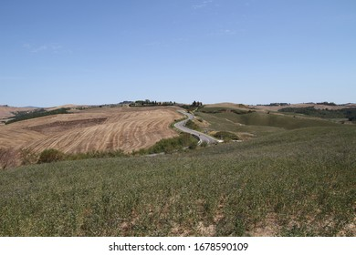 View of the landscape of Tuscany countryside, Siena, Italy