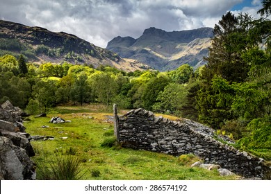 A View of the Langdales in the UK Lake District, near Chapel Stile and Elterwater